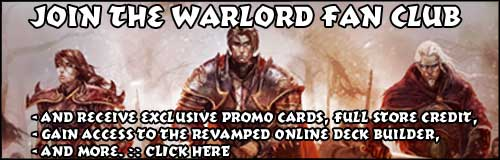 Join the Ordo Phoenicis Ascendentis - the Warlord CCG Fan Club
