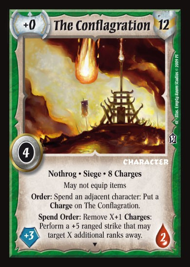 The Conflagration Promo Card